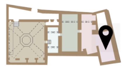 Mapa del forn dels Banys Àrabs de Girona