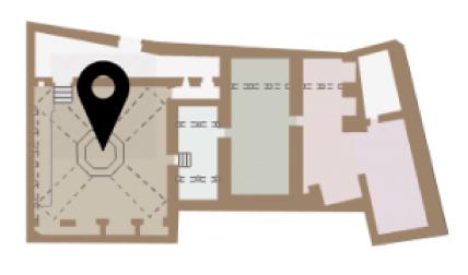 Mapa dels apoditeri dels Banys Àrabs de Girona
