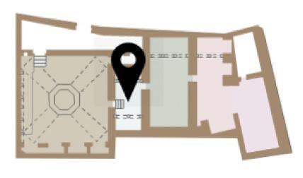 Mapa dels frigadari dels Banys Àrabs de Girona