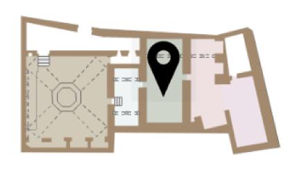 Mapa dels tepidari dels Banys Àrabs de Girona