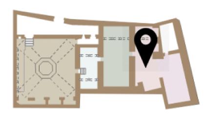 Mapa del Caldari dels Banys Àrabs de Girona